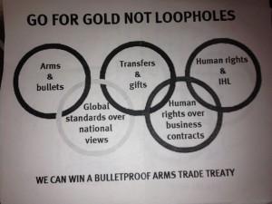 UN Olympics Gun Control Flyer